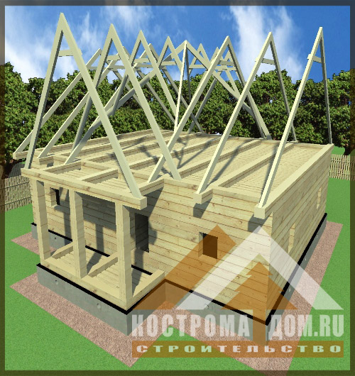 Как сделать крышу с тремя фронтонами 829