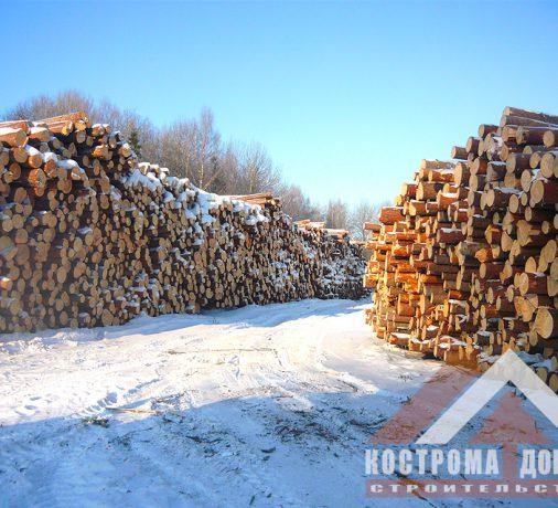 Заготовки леса на нашем производстве