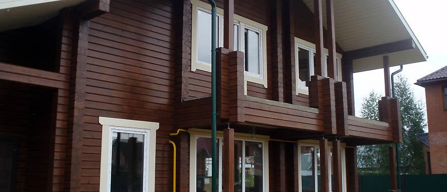 деревянный фасад дома
