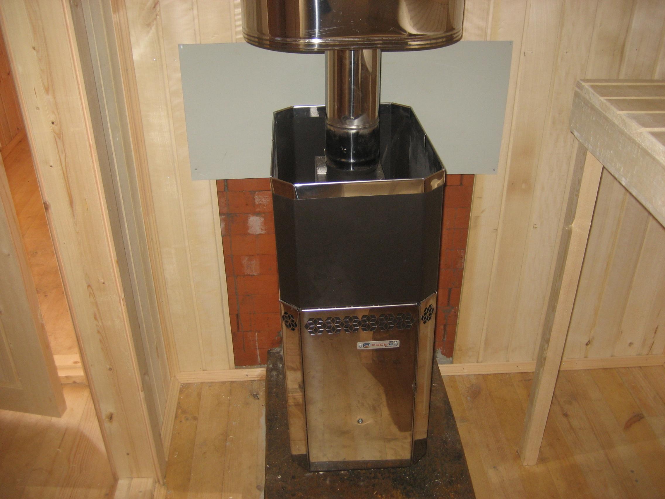 Установка печи в бане на деревянный пол - пошаговая инструкция! 44