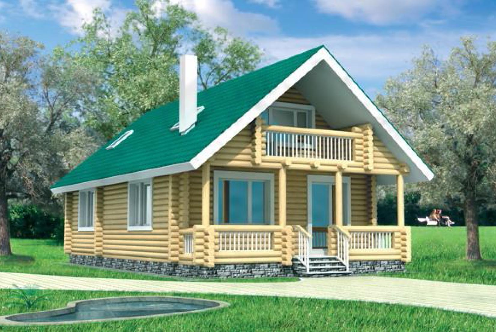 Проект дома из бревна дб-6 - царский домик. проект, цена, фо.