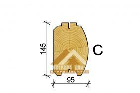 95х145(h) mm